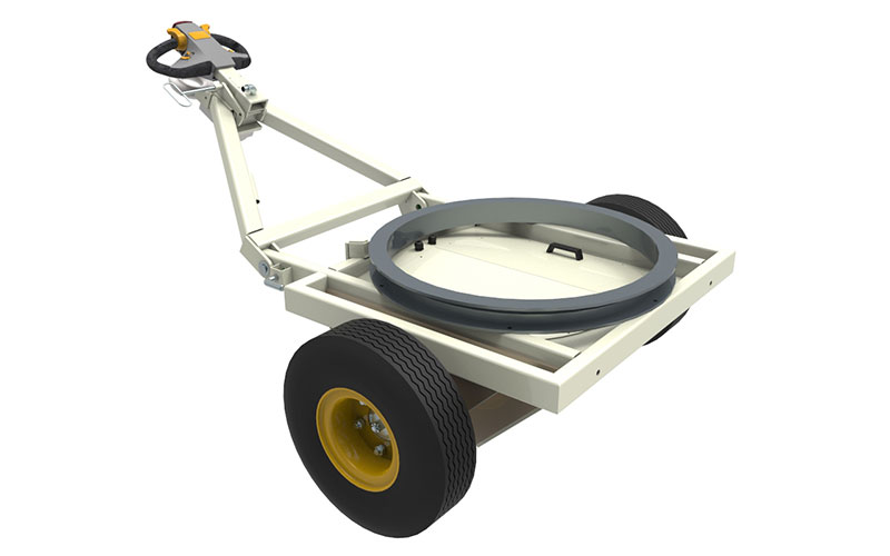 Demountable and Towable Traction Drive for Airport Ground Handling Equipment such as passenger stairs