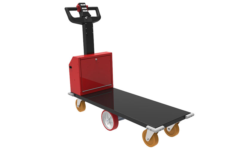 Transporter trolley developed for transporting tool cabinets in a railway maintenance facility