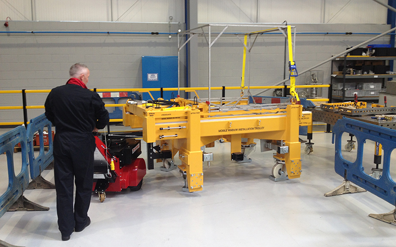 Super Power Pusher movimiento 9,000Kg carro en la industria nuclear
