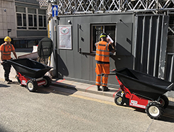 Nu-Star Electric Wheelbarrow on hire at JBV Demolition
